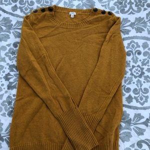 Jcrew mustard sweater